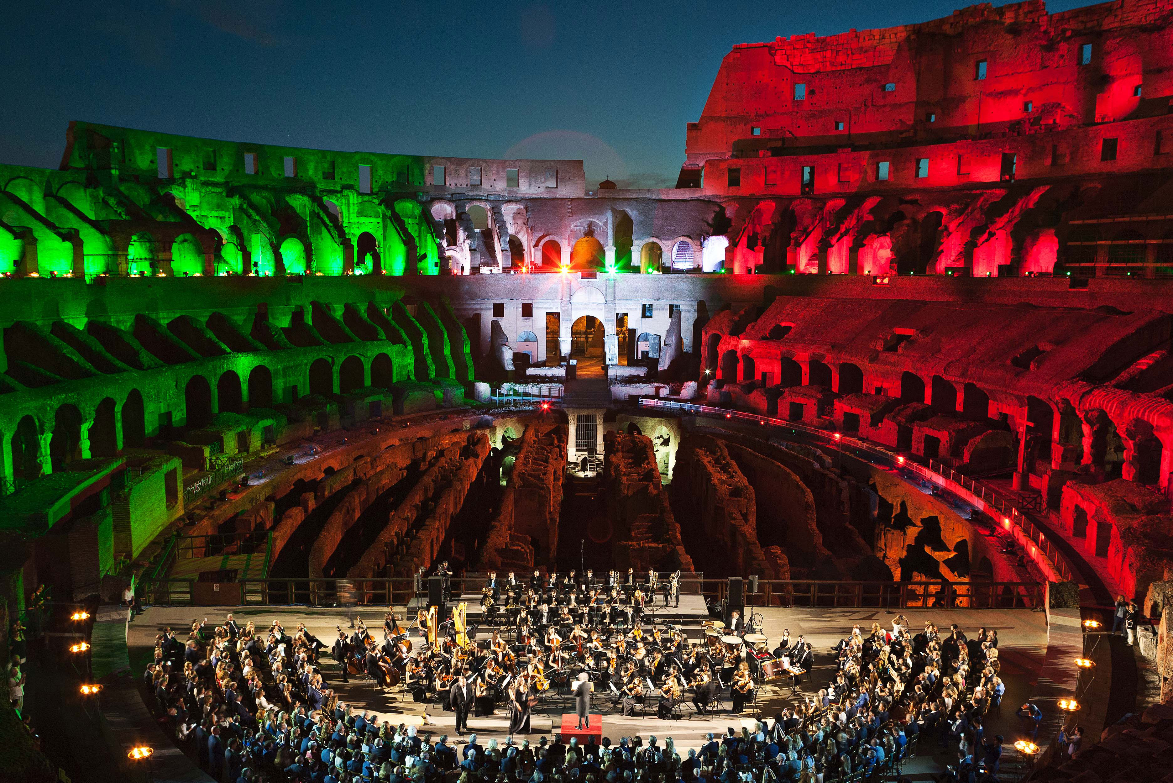 il Colosseo torna a risplendere con i BMFL WashBeam di ROBE