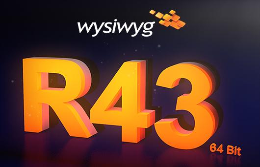 wysiwyg rilascia la nuova versione a 64-bit di R43