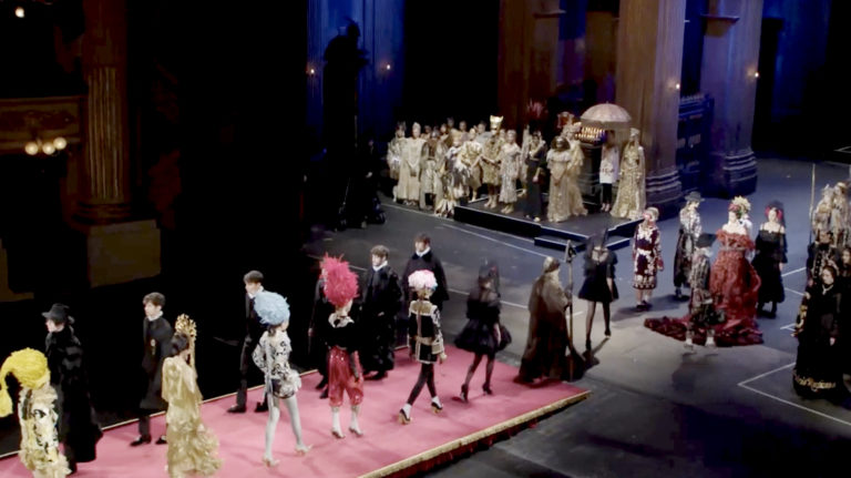 Milano, Teatro alla Scala: ROBE e Robert Juliat per Dolce & Gabbana Alta Moda Donna 2019