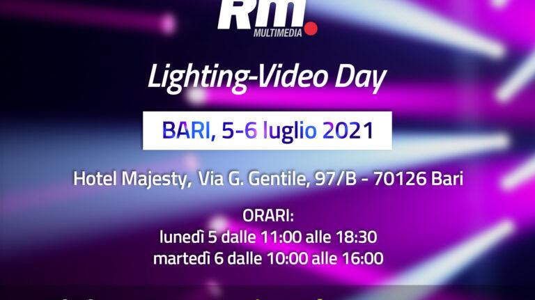 Roadshow Lighting-Video Day 2021: tappa a Bari